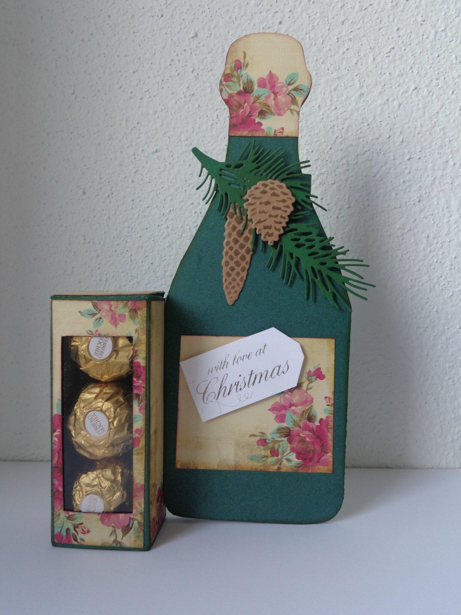 "Carte Ferrero Rocher ""bouteille de champagne"""