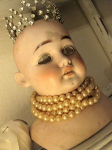 vintage baby doll head