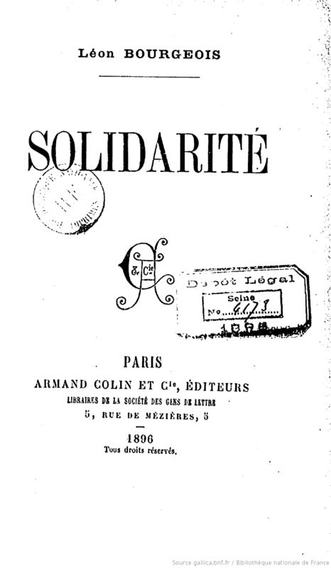 Léon Bourgeois Solidarité