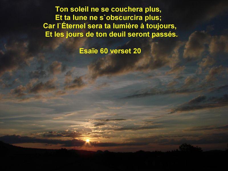 Top Esaïe 60 verset 20 - L'avenir est dans la bible ! FV12