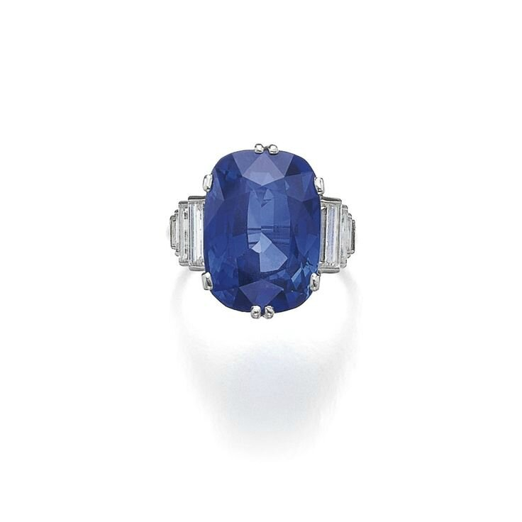 Sapphire and diamond ring, Cartier, circa 1925