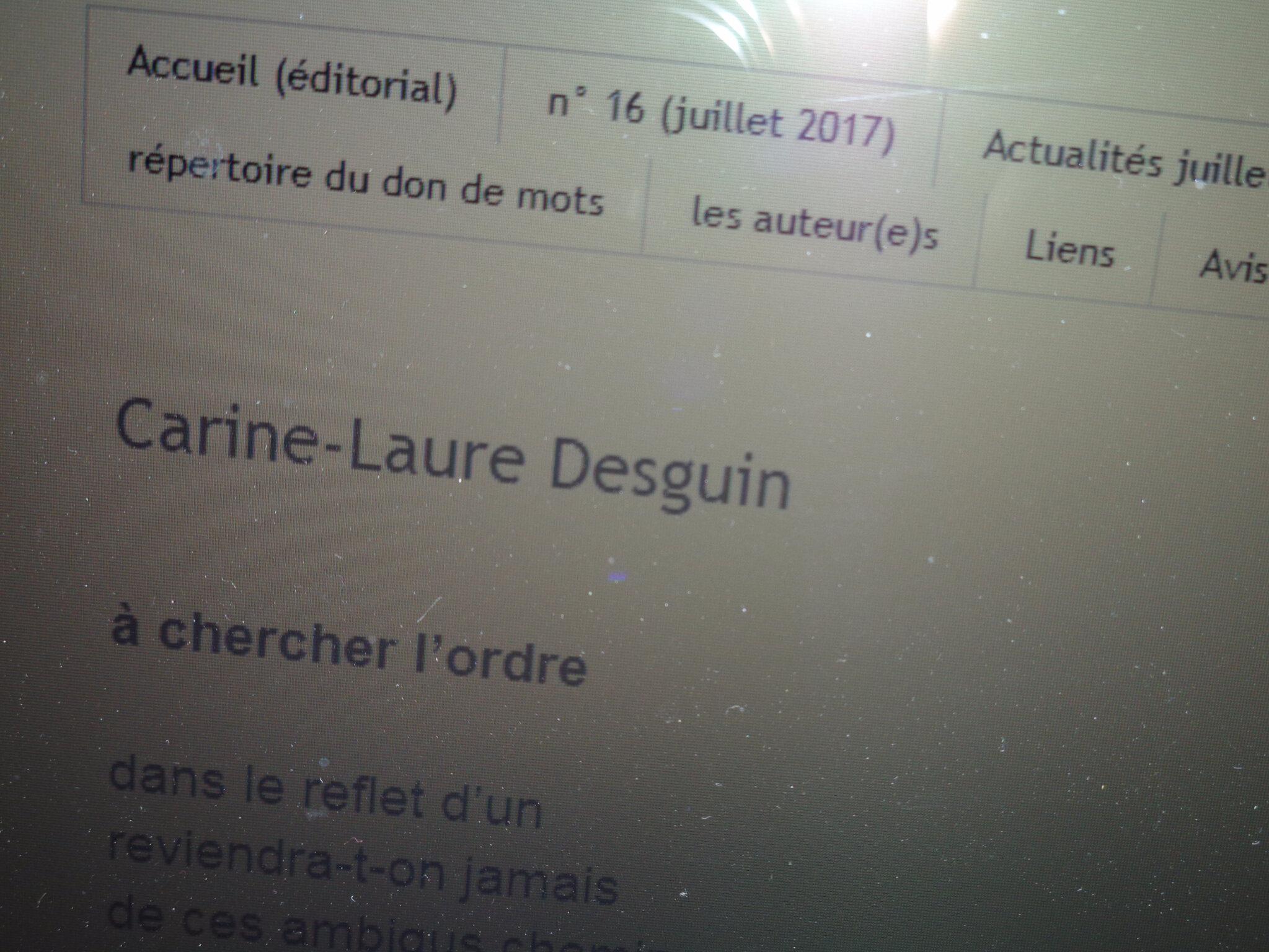 Dans Lichen 16, un texte de C.-L. Desguin