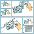 Apprendre à tricoter : maille endroit et maille envers