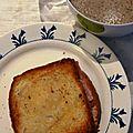 soupe champignons et croque-monsieur