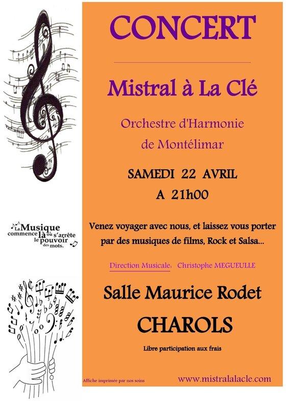 Affiche concert CHAROLS 2017