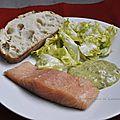 Saumon et sa mayonnaise à l'oseille