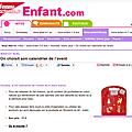Présentation du Calendrier de l'Avent sur Enfant.com