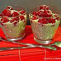 Chia pudding framboises coco