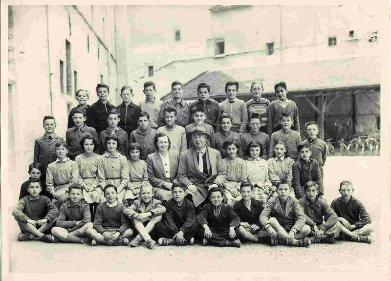 1956 la classe de 6e classique, Collège de St Marcellin