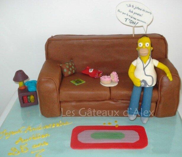 Gâteau Simpson