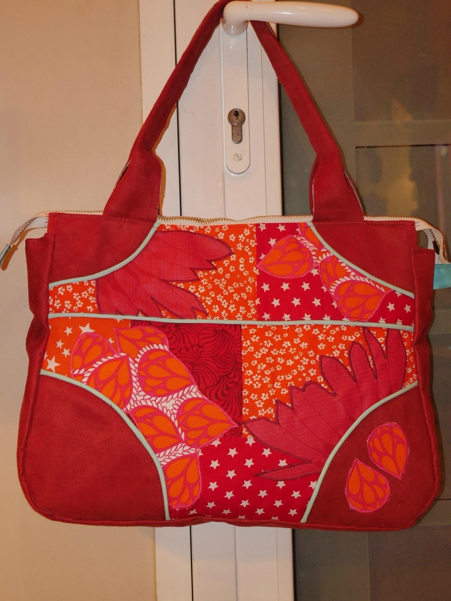 sac cathy rouge et orange cath cent coud. Black Bedroom Furniture Sets. Home Design Ideas