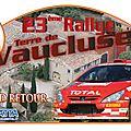 Rallye terre de vaucluse 2013