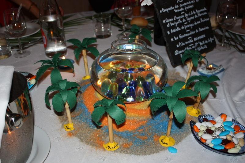 Mariage mariage mimi pinceaux - Set de table feuille de palmier ...