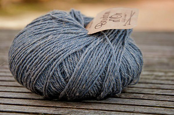 laine bleue et gris
