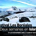 Deux semaines en islande : le festival les boréales à caen du 17 au 30 novembre 2008