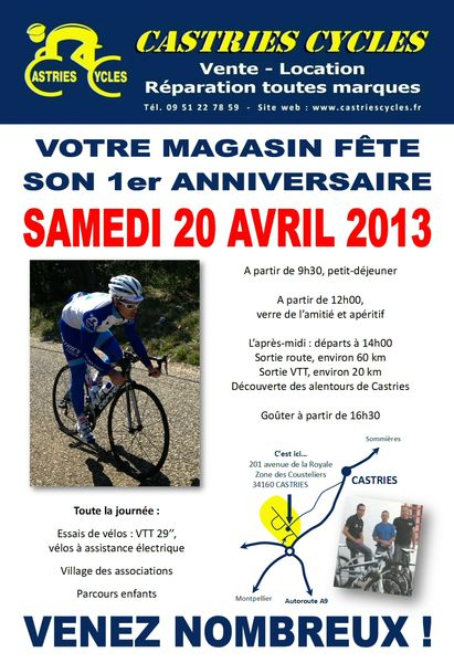 affiche anniversaire castries cycles cyclo