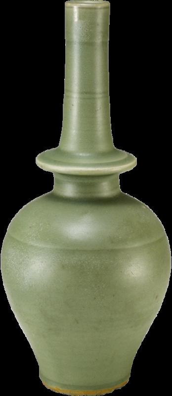 Vase benba en céramique de Longquan avec couverte céladon, Dynastie Yuan, Pékin, Musée de la Cité interdite © The Palace Museum