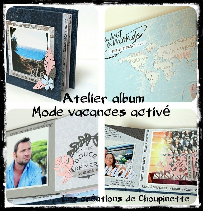 Atelier album Mode vacances activé