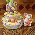 Gâteau de Pâques en pâte à sucre