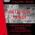Requiem de verdi - vendredi 27 mai 2011 à 20h30 - eglise saint-eustache (75001)