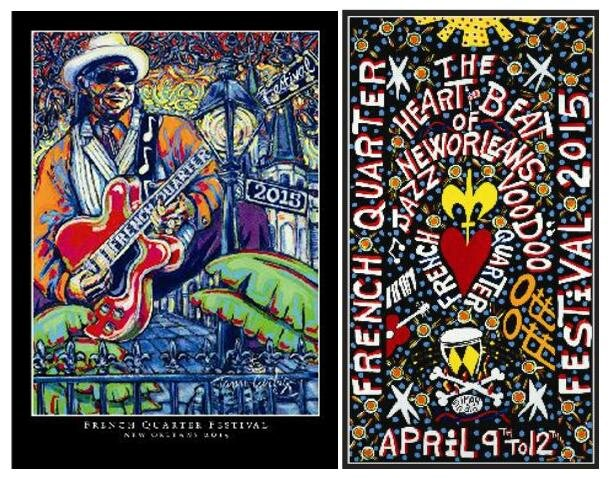 French Quarter Festival 2015 2 posters