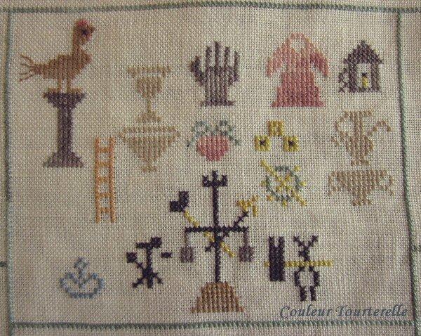 Mother's sampler 1799 Couleur Tourterelle 1-3