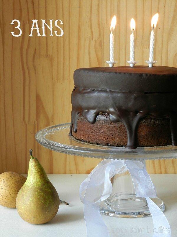 Layer cake chocolat poires 1