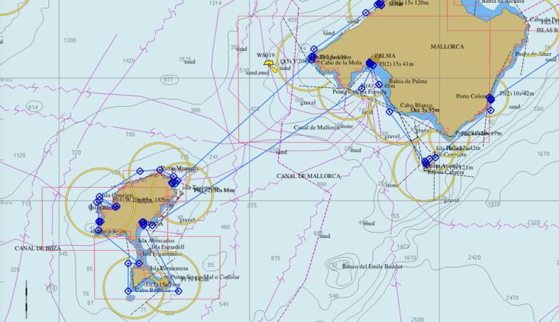 De Mallorca à Ibiza et retour OpenCPN