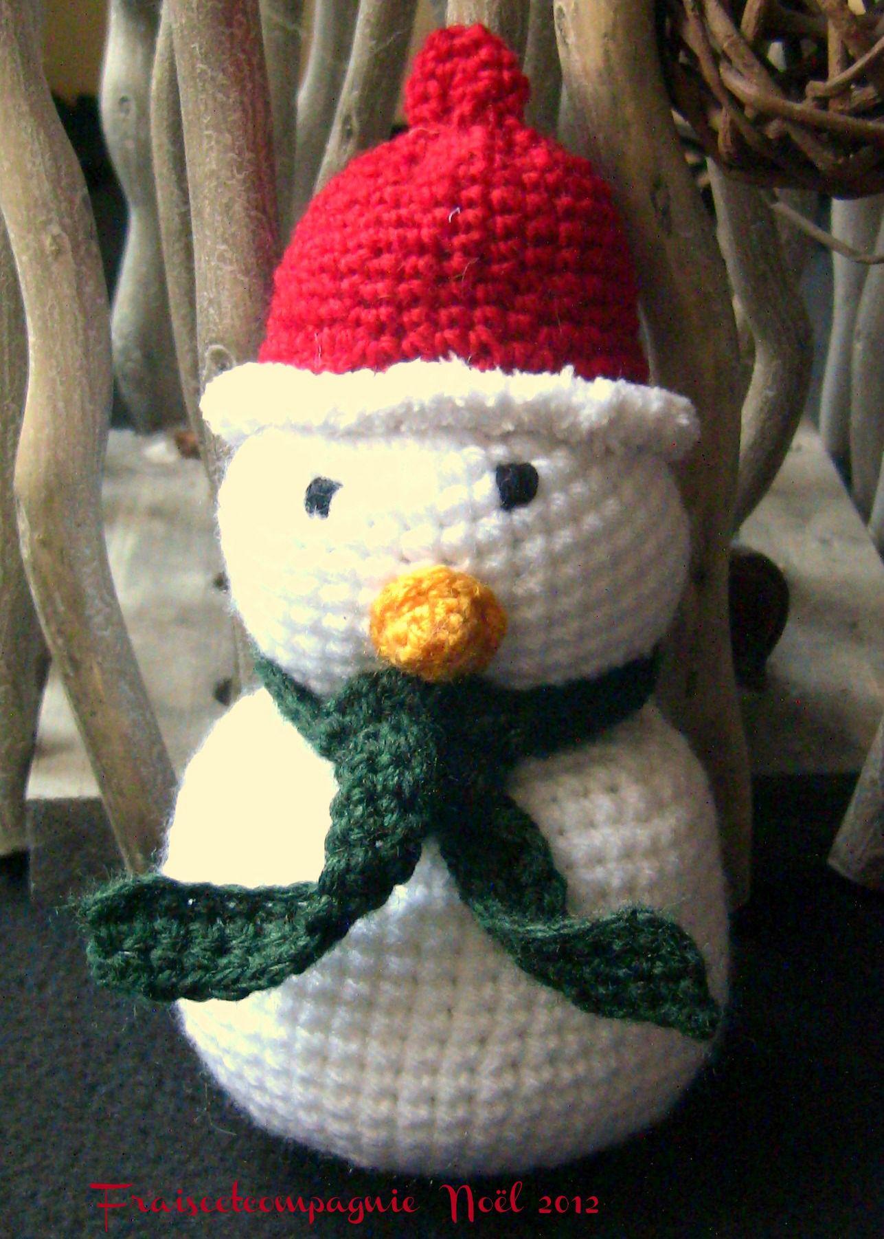 La tribu de no l s 39 agrandit fraiseetcompagnie - Bonhomme de neige au crochet ...
