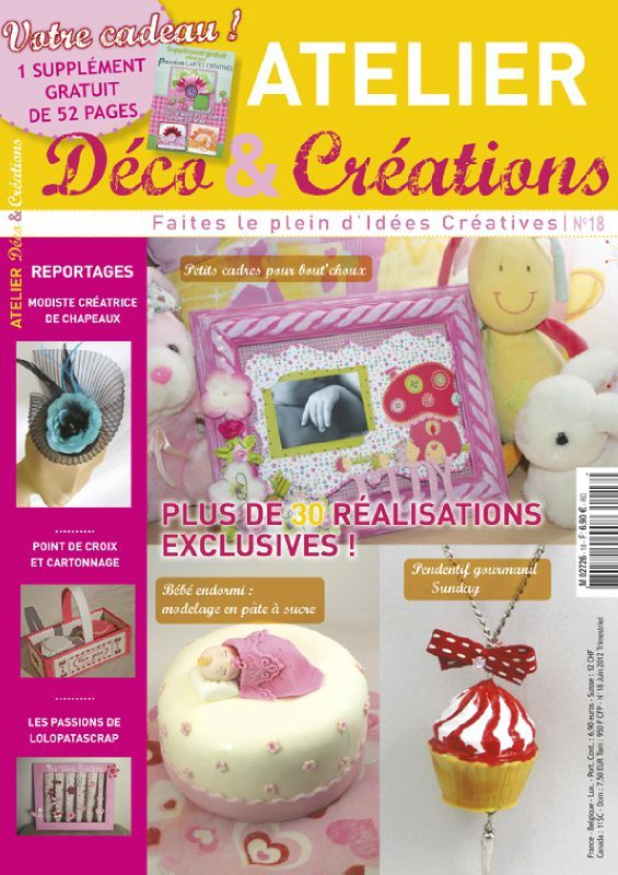 Magazine atelier deco creations passion cartes - Magazine de decoration interieure gratuit ...