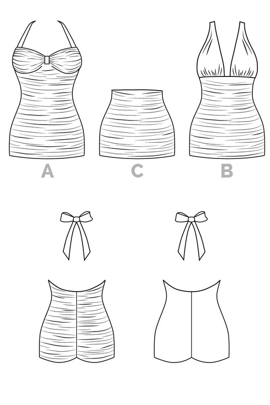 Bombshell_swimsuit_pattern_Technical_drawsings