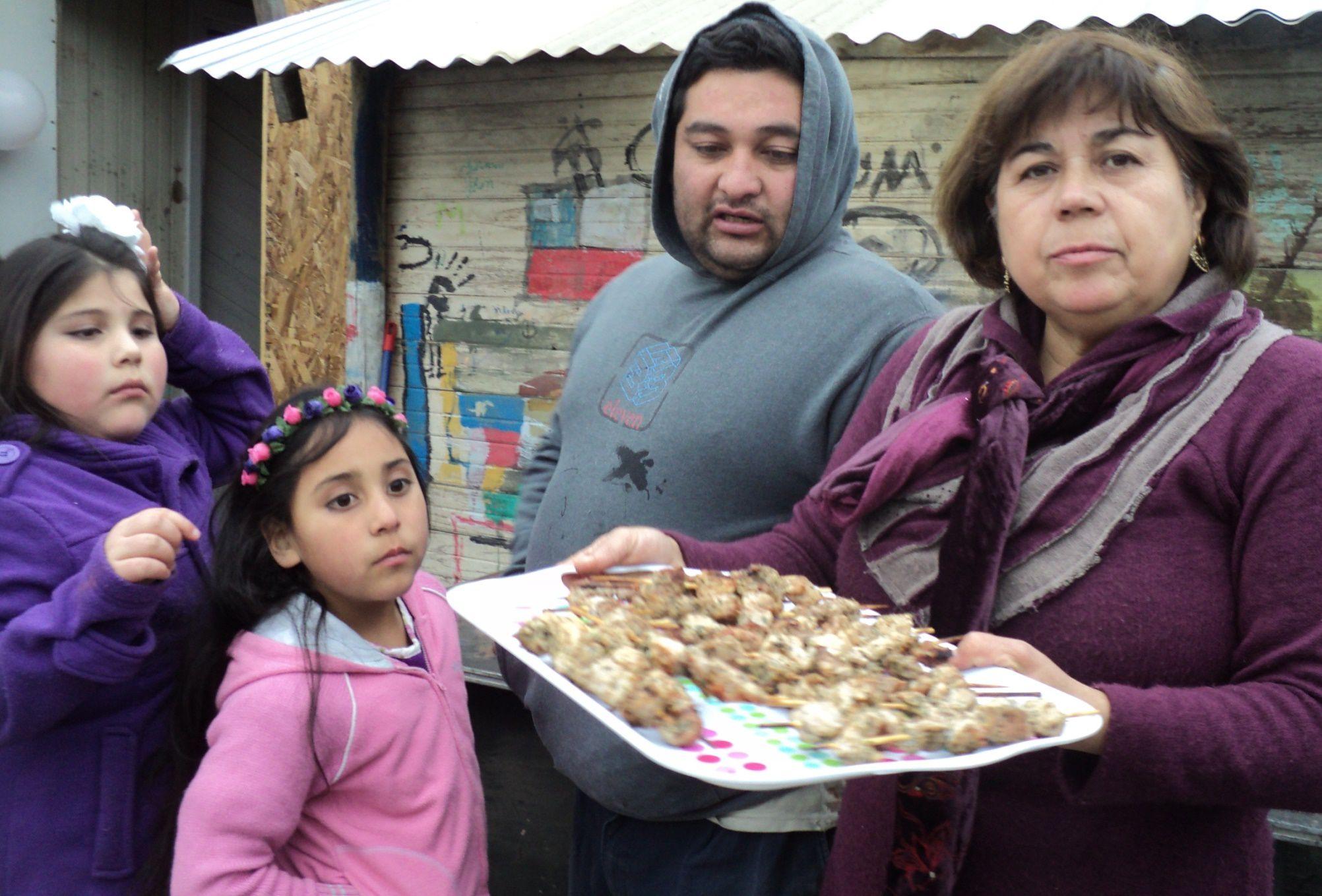 la tia Elena con Cristian