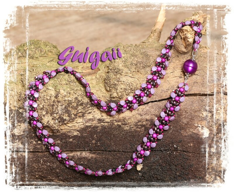 225 Collier Autumn Leaves violet_fuchsia