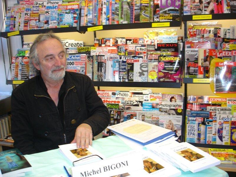 F michel Bigoni à la dédicace