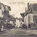 le fleix, vieilles maisons, rue de l'hpital