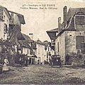 le fleix, vieilles maisons, rue de l'hôpital