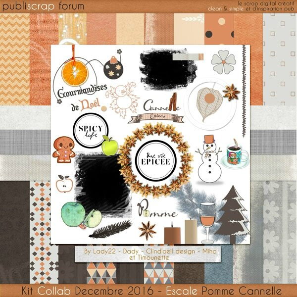 PBS - Escale Pomme Cannelle - Preview Kit F