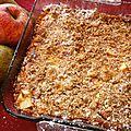 Clafoutis pommes, poires-streusel noisettes