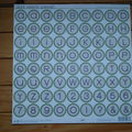 38 - alphabet cardstock stickers