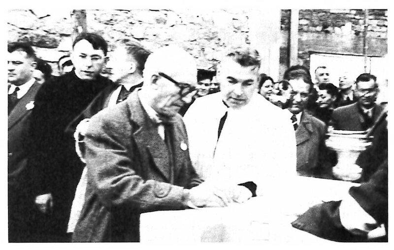 Photo 1953 Signature Le Corbusier Journal de ND du Haut n°76 Mars p32 R1