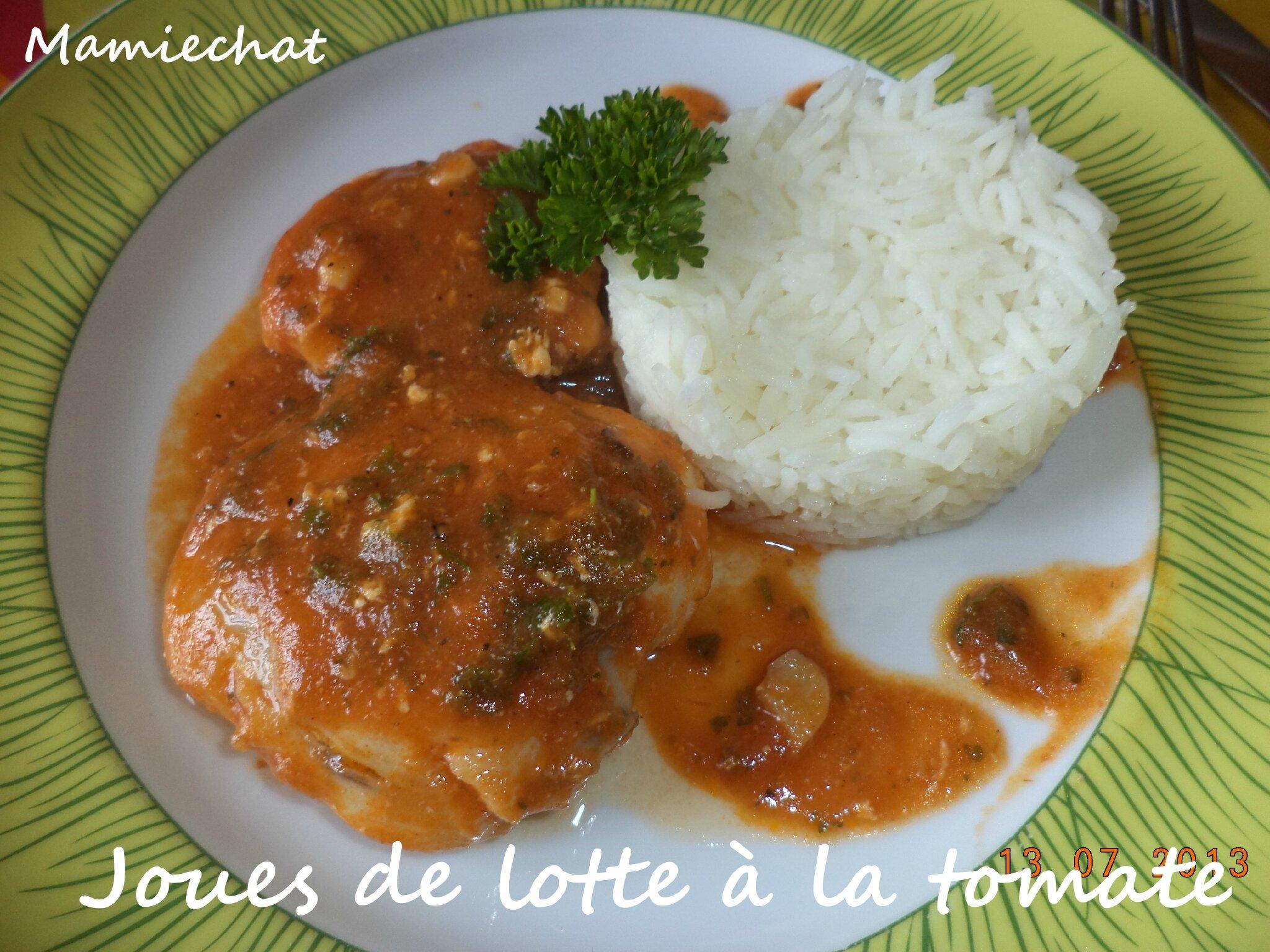 Joues de lotte la tomate le blog de chantal76 - Cuisiner des joues de lotte ...