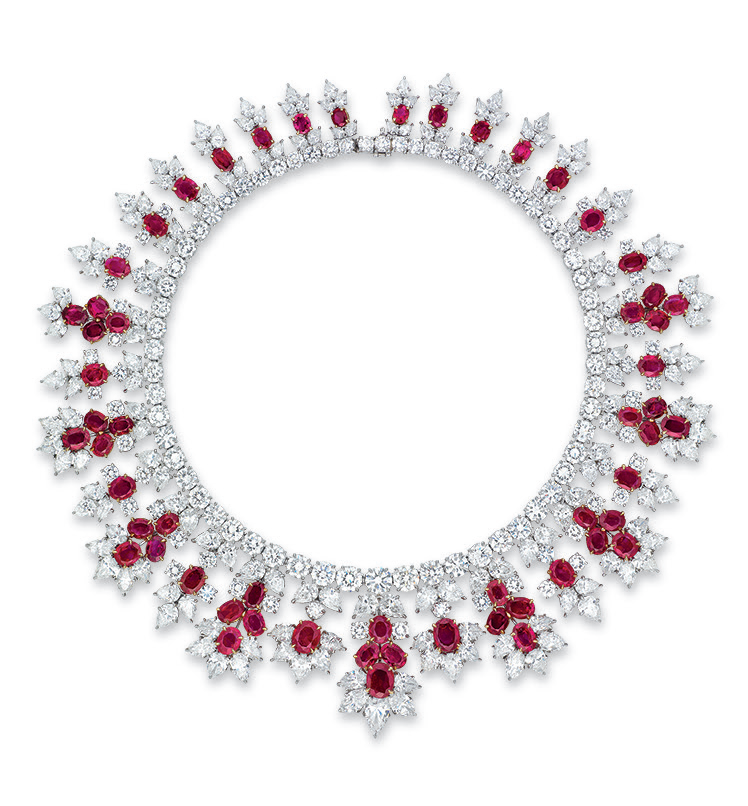 An important ruby and diamond necklace, by Harry Winston