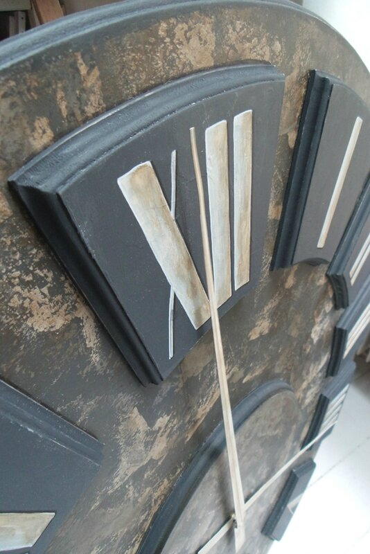 Etsy Big wall Clock number12