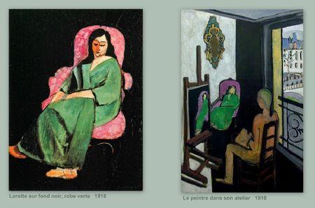 Matisse Lorette robe verte atelier peintre