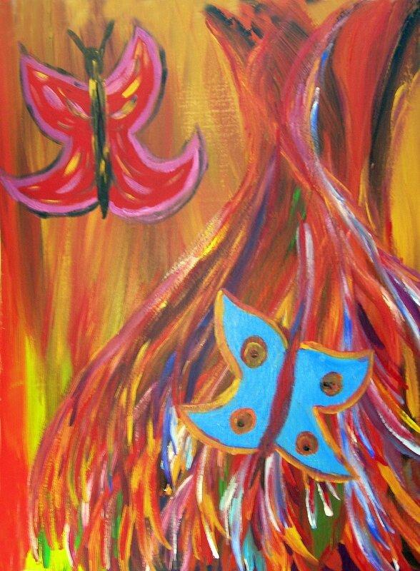 danseuse et papillon