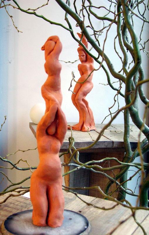 sculptures terre cuite 35 cm