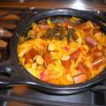 Rougail de saucisses de soja à la réunionnaise