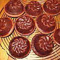 Mini cakes au chocolat