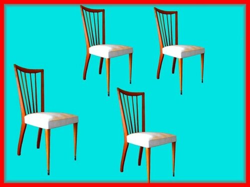Chaises blanches vintage scandinave