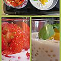 Perles de tapioca , fraise ou mangue ...